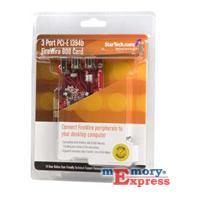 MX18689 1394 FireWire 3 Port PCI-E Adapter Card w/ 1394b, 1394a