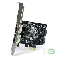 MX43517 2-Port PCI Express SATA III eSATA Controller Card