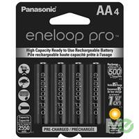 MX53293: Eneloop Pro Low-Discharge Rechargeable NiMH Batteries, 4x AA Pack