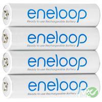 MX53791 Eneloop Low-Discharge Rechargeable AAA NiMH Batteries, Precharged, 4 Pack