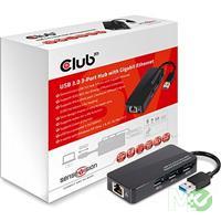 MX66453 SenseVision CSV-1430 3 Port USB 3.0 Hub w/ Gigabit Ethernet RJ45 Port