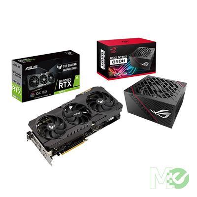 BDL_MM00001732 TUF RTX3080TI OC GAMING GeForce RTX 3080 Ti 12GB PCI-E Bundle w/ Asus ROG STRIX 850G Power Supply