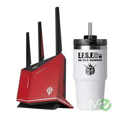 BDL_MM00001817 RT-AX86U GUNDAM ZAKU II EDITION Wi-Fi 6  Wireless Gaming Router Bundle w/ FREE ROG GUNDAM EDITION Stainless Steel Tumbler