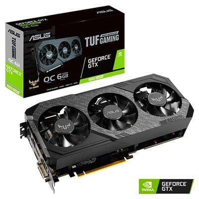 MX00112447 TUF 3 Gaming GeForce GTX1660 SUPER OC Edition, 6GB GDDR6 PCI-E w/ HDMI, DisplayPort, DVI
