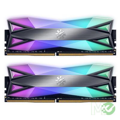 MX00112465 XPG Spectrix D60G RGB 32GB DDR4-3600 CL18 Dual Channel Kit (2x 16GB), Tungsten Grey