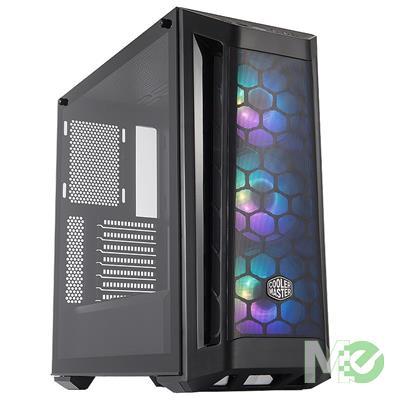 MX00112635 MasterBox MB511 ARGB ATX Case w/ Tempered Glass, Black
