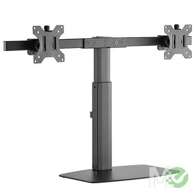 MX00112655 2EZH Dual Screen Pneumatic Vertical Lift Monitor Stand, Black