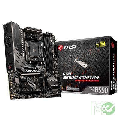 MX00112793 MAG B550M MORTAR w/ DDR4, 7.1 Audio, 2.5Gbe LAN, 2-Way CrossFire