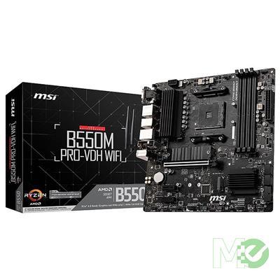 MX00112796 B550M PRO-VDH WiFi w/ DDR4-2666, 7.1 Audio, Dual M.2, Gigabit LAN, 802.11ac, Bluetooth