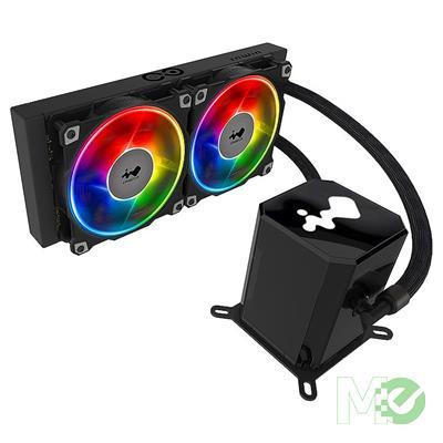 MX00112879 SR24 Twin Turbines Liquid CPU Cooler w/ 240mm Radiator, 2x 120mm Jupiter Fans, ARGB Controller