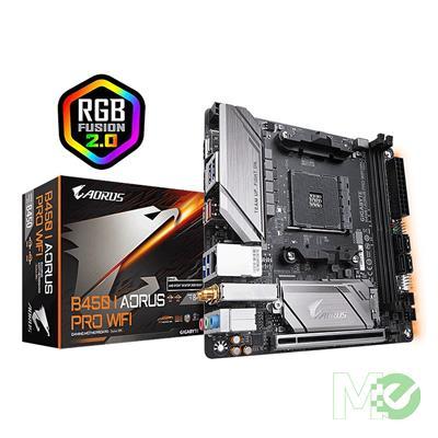 MX00112911 B450 I AORUS PRO WIFI Mini ITX w/ DDR4 3600(O.C.), 7.1 Audio, GbE LAN, 802.11AC WIFI