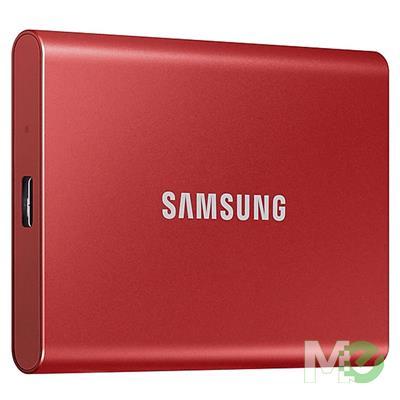 MX00113016 Portable T7 SSD, 500GB w/ USB 3.2 Gen2 Type-C, Metallic Red