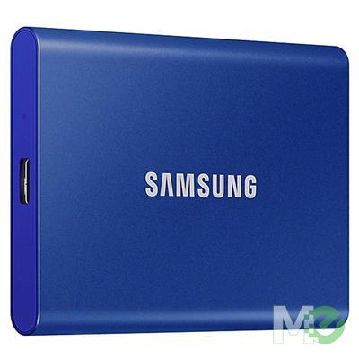 MX00113019 Portable T7 SSD, 500GB w/ USB 3.2 Gen2 Type-C, Indigo Blue