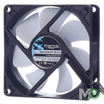 MX00113048 Silent Series R3 80mm Silent Case Fan, Black
