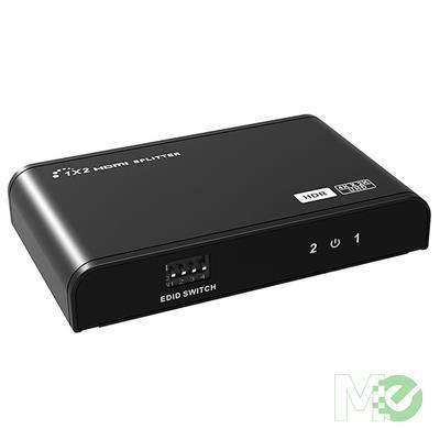 MX00113079 2-Way 4K HDR HDMI 2.0 Video Splitter, Black