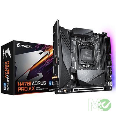 MX00113142 H470I AORUS PRO AX w/ DDR4-2933, 7.1 Audio, 2.5G + Gigabit LAN, Wi-Fi 6 802.11ax, Bluetooth 5