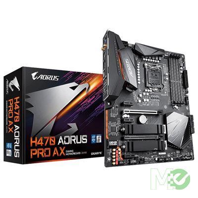 MX00113145 H470 AORUS PRO AX w/ DDR4-2933, 7.1 Audio, Dual M.2, 2.5G LAN, Wi-Fi 6, Bluetooth, CrossFire