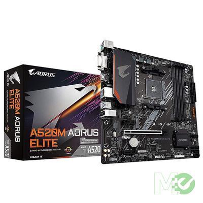 MX00113684 A520M AORUS ELITE w/ DDR4-3200, 7.1 Audio, M.2, Gigabit LAN