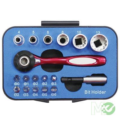 MX00113740 Multi-Purpose Ratchet and Screwdriver Set, 18 Pieces