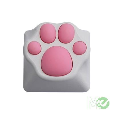 MX00113756 Kitty Paw ABS/Silicone Artisan Keycap, White / Pink