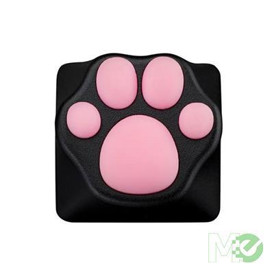MX00113758 Kitty Paw ABS/Silicone Artisan Keycap, Black / Pink