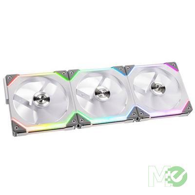 MX00113979 Uni Fan SL120 Modular ARGB 120mm Fans Kit, 3-Pack w/ Fan Controller, White