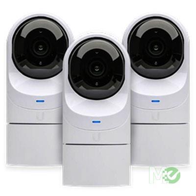 MX00114043 UniFi G3 Flex 2MP 1080p Indoor/Outdoor PoE Network Cameras, 3-Pack