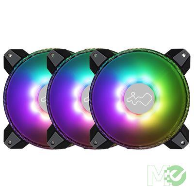 MX00114165 Saturn ASN120 120mm ARGB Case Fans Kit, 3x 120mm, Triple Pack