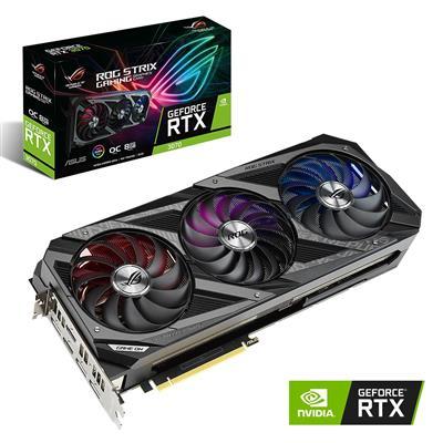 MX00114560 ROG STRIX RTX3070 OC GAMING GeForce RTX 3070 8GB PCI-E w/ Dual HDMI, Triple DP