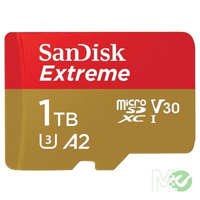 MX00114866 Extreme microSDXC U3 V30 UHS-I Card w/ SD Card Adapter, 1TB