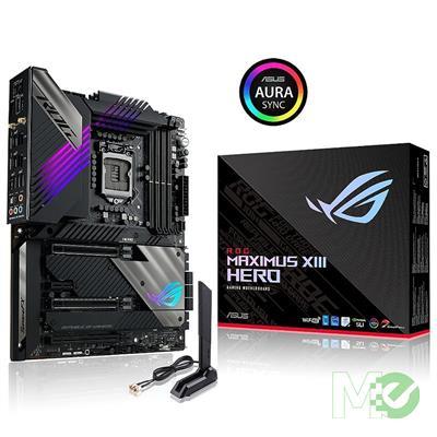 MX00115419 ROG MAXIMUS XIII HERO w/ DDR4-3200, 7.1 Audio, Quad M.2, Dual 2.5G LAN, Wi-Fi 6E, BT v5.2, 2-Way SLI