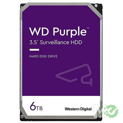 MX00115526 Purple 6TB Surveillance 3.5in Hard Drive, SATA III w/ 128MB Cache