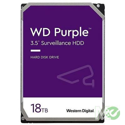MX00115555 Purple 18TB Surveillance 3.5in Hard Drive, SATA III w/ 512MB Cache