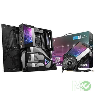 MX00115616 MEG Z590 GODLIKE w/ DDR4-3200, 7.1 Audio, Quad M.2, 10G + 2.5G LAN, Wi-Fi 6E, BT 5.2, CrossFire / SLI