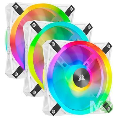 MX00115849 iCUE QL120 RGB 120mm PWM Case Fans w/ Lighting Node PRO, White, 3-Pack