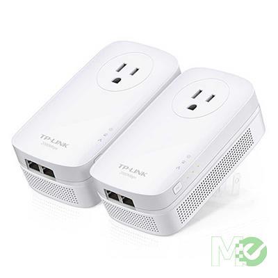 MX00116001 TL-PA9020P AV2000 2-Port Gigabit Passthrough Powerline Starter Kit