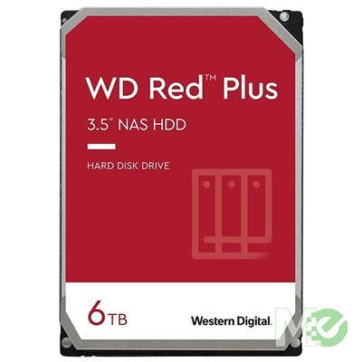 MX00116112 Red Plus 6TB NAS Desktop Hard Drive, SATA III w/ 128MB Cache