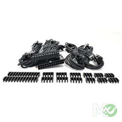 MX00116189 Premium Sleeved PSU Cable Extension Kit, Black