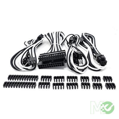 MX00116190 Premium Sleeved PSU Cable Extension Kit, White/Black