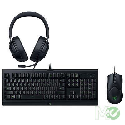 MX00116355 Power Up Gaming Bundle w/ Cynosa Lite Gaming Keyboard, Viper Wired Optical Gaming Mouse & Kraken X Lite Gaming Headset