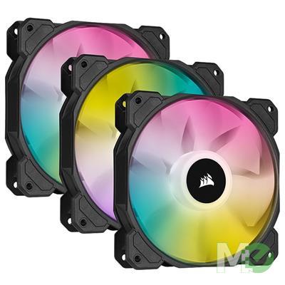 MX00116374 iCUE SP120 RGB ELITE Performance 120mm PWM Cooling Fan w/ Lighting Node CORE, 3-Pack