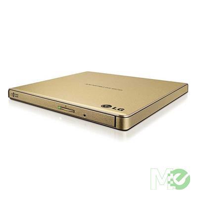 MX00116705 Ultra-Slim External Portable DVD Writer, Burner, Disc Drive -Gold