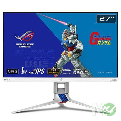 MX00117106 ROG Strix XG279Q-G 27in WQHD 170Hz IPS LED LCD, GUNDAM EDITION w/ HDR, HAS, Speakers, Aura Sync