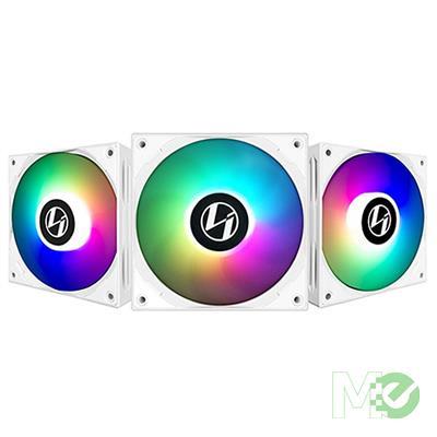 MX00117217 ST120 ARGB 120mm Case Fans, 3-Pack w/ Fan Controller, White