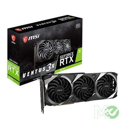 MX00117680 GeForce RTX 3070 VENTUS 3X OC LHR 8GB PCI-E  w/ HDMI, Triple DP