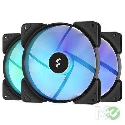 MX00117795 Aspect 14 RGB PWM 140mm Case Fan, Black, 3-Pack