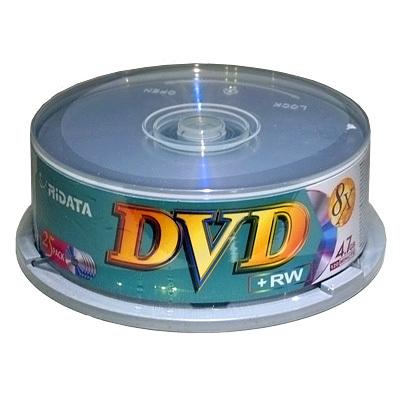 MX11006 4.7GB RiDATA 8X DVD+RW, Branded, 25 Pack