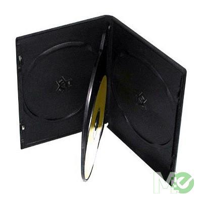 MX16681 DVD Case, 4-Disc, Black, Single Pack