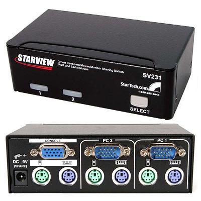 MX1794 2-Port StarView PS/2 KVM Switch w/ Serial