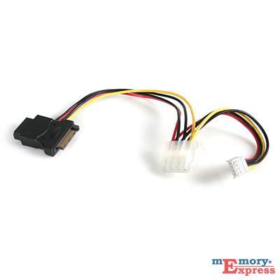 MX20682 LP4 to SATA 15 Pin Power Adapter F/M w/ Floppy Power